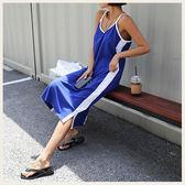 ✦Styleon✦正韓。夏日勾邊U領細肩帶開衩洋裝。韓國連線。韓國空運。0515。