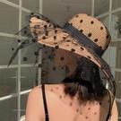 帽子遮陽帽女防曬夏季薄款沙灘草帽大帽檐蕾絲遮臉韓版潮百搭日系 夢幻小鎮