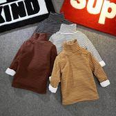 男童長袖t恤加絨兒童高領秋冬裝上衣寶寶打底衫女童冬季保暖加厚