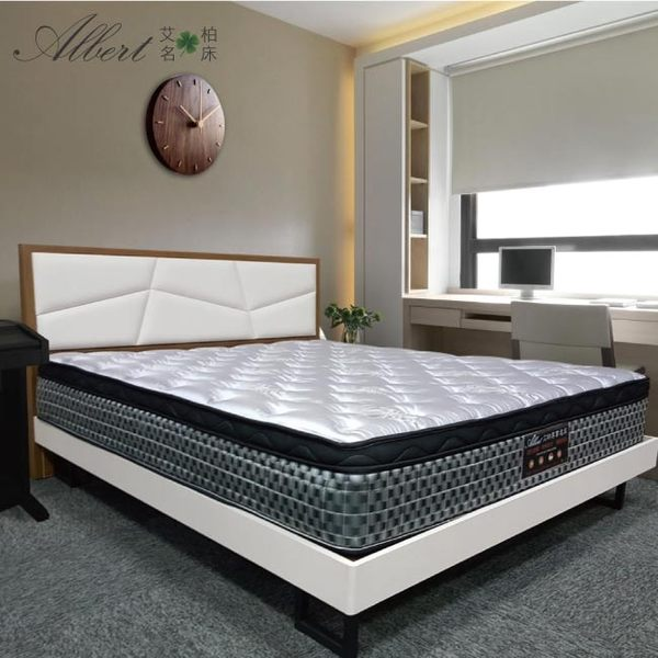 Albert 艾柏-艾柏 抗菌防蹣6尺天絲雙人加大彈簧床墊-6x6.2尺