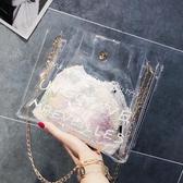 北包包子母包女2020新款潮韓版百搭超火錬條仙女包斜挎透明果凍包 年前鉅惠