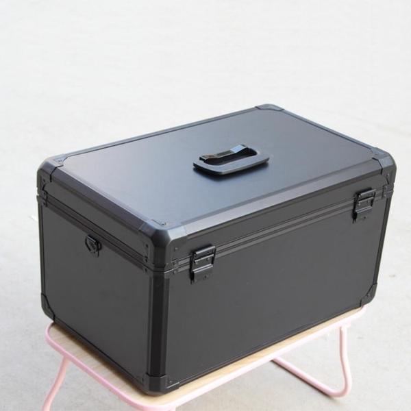 手提大號家用鋁合金工具箱攝影箱儀器箱五金航模箱遙控箱鋁箱雙控 南風小鋪