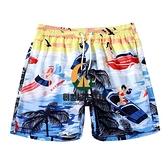 沙灘褲男速干寬鬆可下水泳褲男四分短褲海邊度假溫泉褲夏【創世紀生活館】