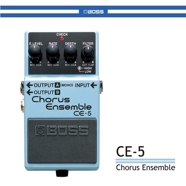 【非凡樂器】全新 BOSS CE-5 Chorus Ensemble 和聲效果器