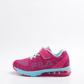 FILA  兒童 氣墊 慢跑鞋-桃/藍 3-J807R-233