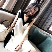 孕婦裝連身裙港風雙面穿韓版孕婦裙子時尚中長款 全館免運