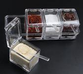 創意鹽罐家用組合裝套裝玻璃調味盒收納盒 ZL753『夢幻家居』