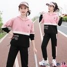 熱賣運動套裝 運動套裝女春秋季2021新款時尚初中高中學生韓版寬鬆休閒服兩件套 coco