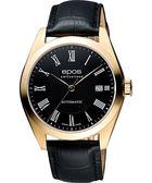 epos 原創系列羅馬機械腕錶-黑X玫塊金框/39mm 3411.131.24.25.25FB