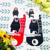 【KP】15~22cm 台灣製 熊本熊襪子 雙色站立 線條 紅 黑 童襪 DTT100007633