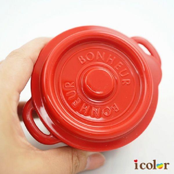 i color 日本製 鑄鐵鍋造型保存容器(M)