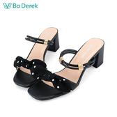 Bo Derek 蝴蝶結2way高跟涼鞋-黑色