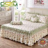 床裙歐蘇縵全棉荷葉邊床罩棉質床裙式單件防滑床套床單1.5m1.8米2.0床