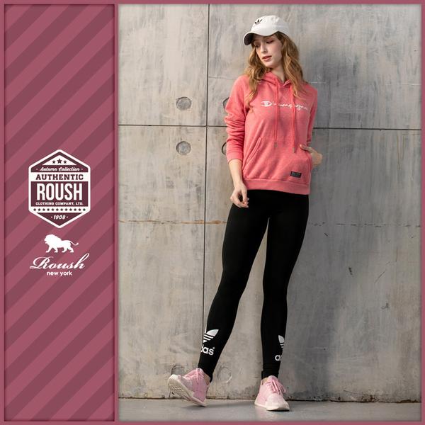 【Roush】 女生翻玩CHAMPION立體刺繡帽TEE -【912526】