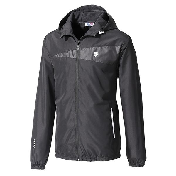 K-SWISS Fleece Jacket 男款刷毛防風外套 104647008 黑