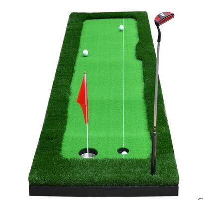TYGJ室內高爾夫套裝 果嶺推桿練習器GOLF球道練習毯【【雙色草】0.5米*3米果嶺】