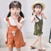 女寶寶夏裝套裝0-5女童背帶褲兩件套2韓版3-6-12個月2女嬰幼兒童 森活雜貨