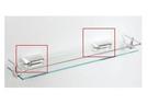 【麗室衛浴】玻璃平檯置物架夾子 一對 孔距3.5CM