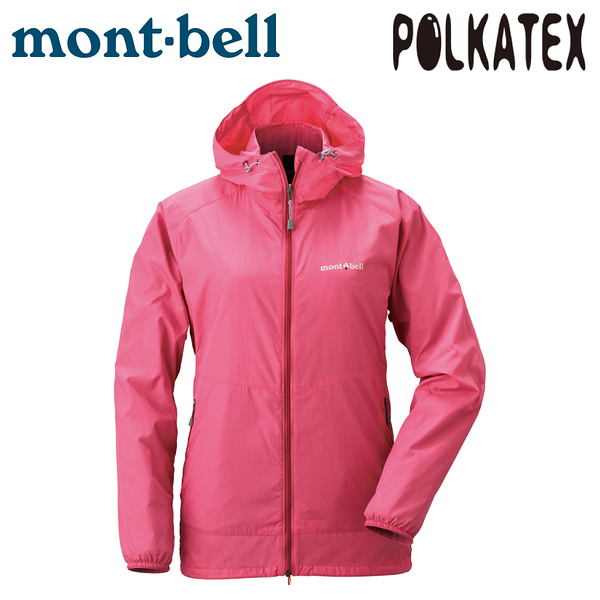 【Mont-Bell 日本 女 Wind Blast Parka 連帽風衣《桃紅》】1103243/防潑水外套/運動夾克