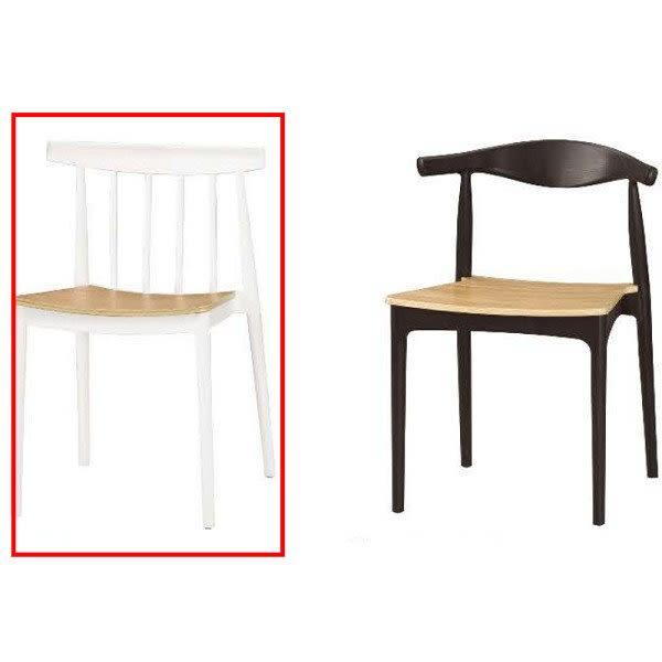 休閒桌椅 MK-1041-14 溫蒂造型椅(白)【大眾家居舘】