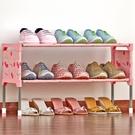 簡易多層鞋架宿舍陽台組裝防塵鞋櫃簡約現代經濟型鐵藝收納架xw