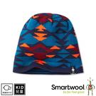 【 SmartWool 美國 孩童雙面幾何圓帽 海洋藍《深海軍藍》】SW000450/針織帽/毛線帽/羊毛帽