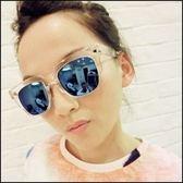 ~大牌潮人金屬箭頭太陽鏡女方框明星眼鏡韓國版墨鏡~ifairies ~LF24119 ~