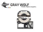 【速買通】EPSON LC-4WBN 相容標籤帶 12mm 白底黑字