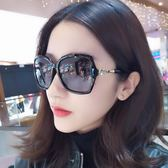除舊迎新 墨鏡女潮大框太陽眼鏡女士時尚鑲鉆太陽鏡偏光駕駛圓臉長臉偏光鏡