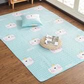 簡約北歐全棉地毯地墊臥室客廳床邊榻榻米墊可機洗兒童爬爬墊【熱銷88折】
