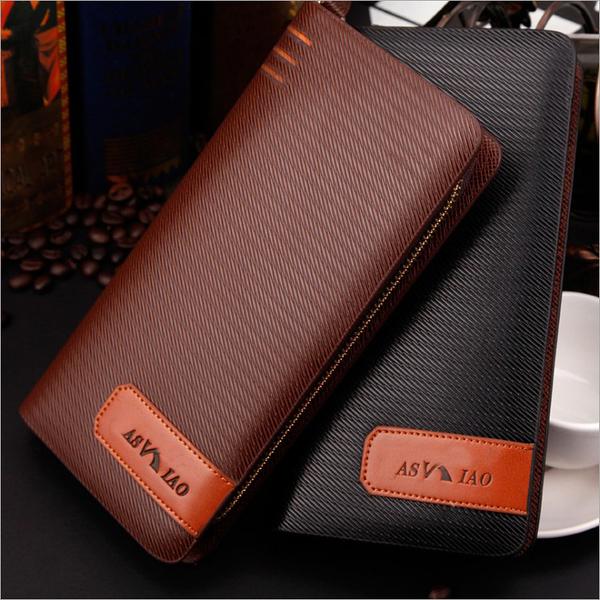 歐美拉鏈 手拿包 拉鏈包 手機包 壓紋 男士錢包 錢包 長夾錢包 皮夾 男用皮夾 長皮夾 9066