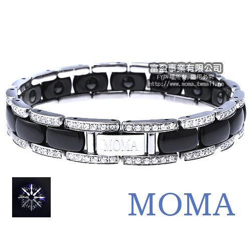 MOMA陶瓷鍺磁手鍊八心八箭尊榮限量鑲鑽版-M68HD