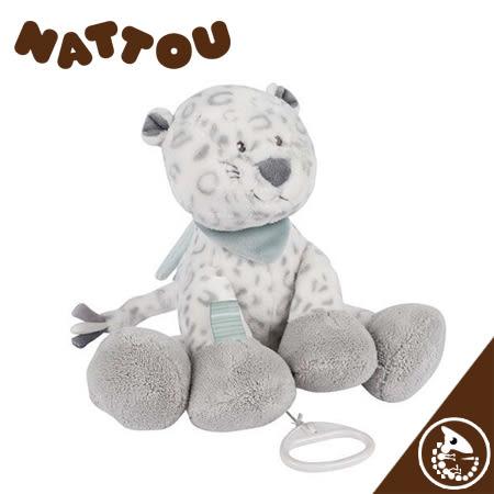 金寶貝 Nattou 絨毛音樂拉鈴 32公分 雪豹【40154】