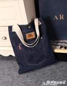 牛仔包 原創時尚女包個性側背休閒包牛仔布包小清新學生學院書包購物袋潮 愛麗絲