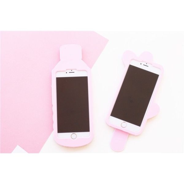 iPhone手機殼 新色韓國礦泉水愛心冰棒 矽膠軟殼全包 蘋果iPhone7/iPhone6/iPhone5手機殼