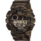 CASIO 卡西歐 G-SHOCK特別版迷彩電子錶-卡其/51mm GD-120CM-5DR / GD-120CM-5