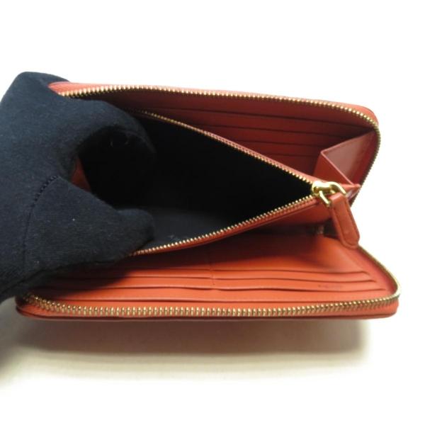 BURBERRY 巴寶莉 橘色牛皮長夾Zippe Arround Wallet 【二手名牌 BRAND OFF】