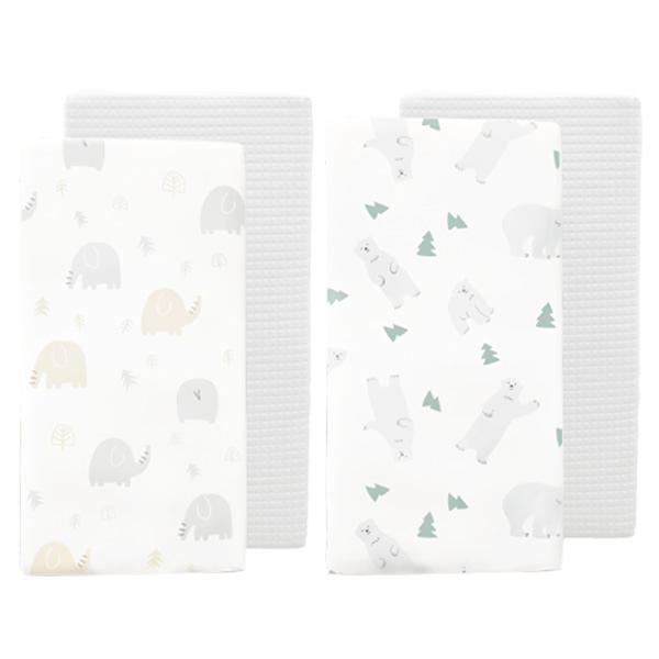 【加贈防踢背心】PAMABE 二合一水洗透氣嬰兒床墊-第二代(北極熊/Q比小象)(60x120x5cm)