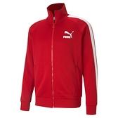 PUMA 男款紅色流行系列 T7立領外套 53009411