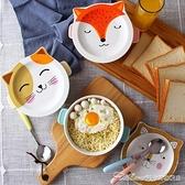 便當盒 泡面碗帶蓋陶瓷家用日式大號學生飯盒便當盒速食麵碗宿舍可愛卡通【快速出貨】