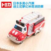 Norns 【迪士尼夢幻米奇消防車DM-11】日本TOMICA多美迪士尼小汽車 米老鼠