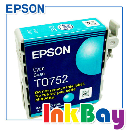 原廠墨水匣EPSON T0752/0752/752 真空裸包(藍色) ㊣【適用】Stylus C59/CX2900 /另有T0752藍/T0753紅/T0754黃