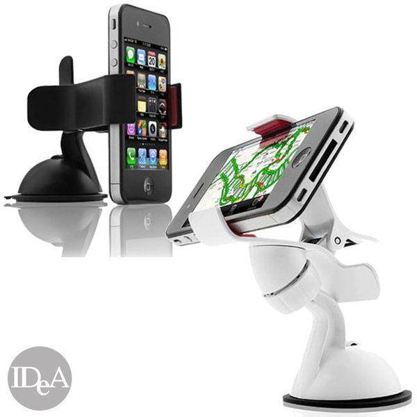 創意生活 多功能夾式車用智慧型手機萬用吸盤支架 超強吸力 Apple iPhone5S HTC Samsung SONY 可用