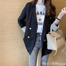 西裝外套 小西裝外套女2020春秋新款寬鬆氣質韓版休閒英倫風黑色西服上衣 618購物節