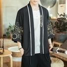 促銷 夏季中國風男裝刺繡漢服日式和服開衫...