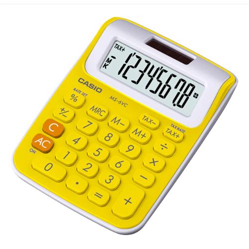 CASIO 計算機專賣店 MS-6VC-YW 輕巧桌上計算機 8位數 稅金計算