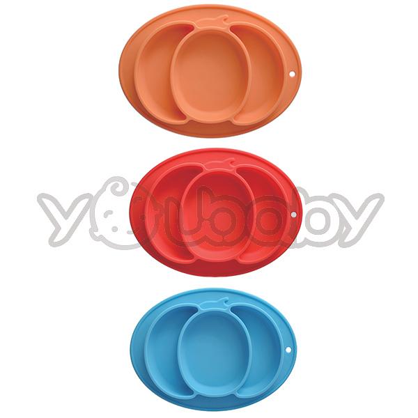 Expect 兒童矽膠餐盤(南瓜) /矽膠餐盤/兒童餐盤
