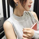 耳環黑色水晶耳環女高級感優雅氣質設計感小眾網紅耳墜耳釘新款潮  初語生活