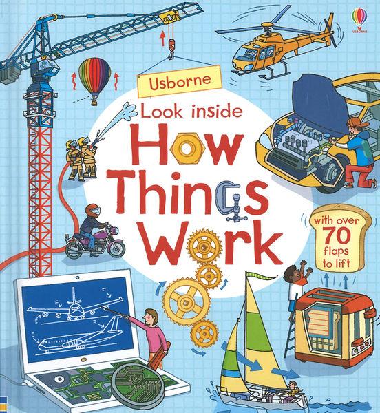 【麥克書店】LOOK INSIDE HOW THINGS WORK/ 英文繪本硬頁書《主題:科學環境社會》