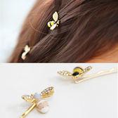 水鑽感蜜蜂一字髮夾 髮飾 合金髮夾 蜜蜂 造型髮夾